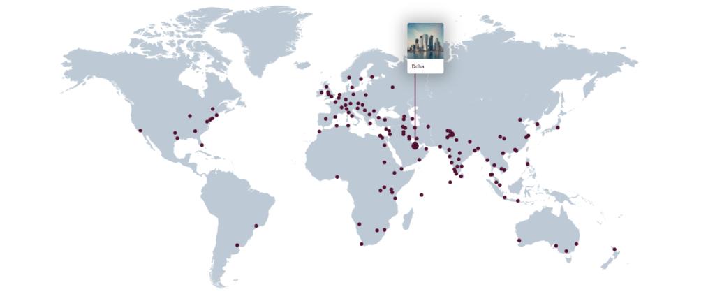 Qatar Airways - map